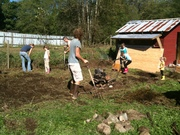 digging a vegetable garden