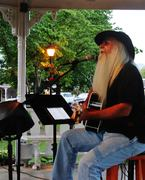 Dr. Paul performing on the square in Hayesville, NC