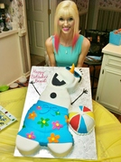 "╰⇢❥my ""olaf"" birthday cake ,¸.•*¨✰"