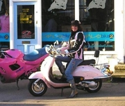 My pink scooter