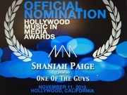Shaniah Paige Nomination for Hollywood Music in Media Award