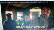 Screenshot of myself behind Billy Ray Cyrus new CMT series