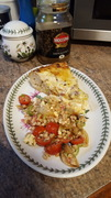 Flamiche on Plate - with Spelt Salad