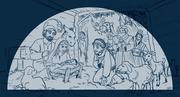 World Vision Christmas Nativity Art - Sketch