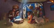 World Vision Christmas Nativity Art