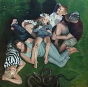 """Rebirth,"" Van Mourick, 72x72"" oil on canvas"
