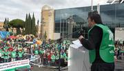 Final de la Marcha por la dignidad del Campo