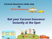 Insurance for caravan