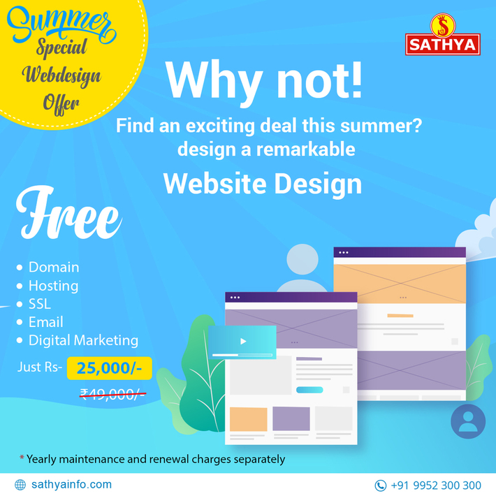 Summer Special Webdesign Offer - Sathya Technosoft