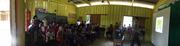 Exposição Oficina UHE Teles Pires na Escola Municipal Tancredo de Almeida Neves em Paranaíta/MT