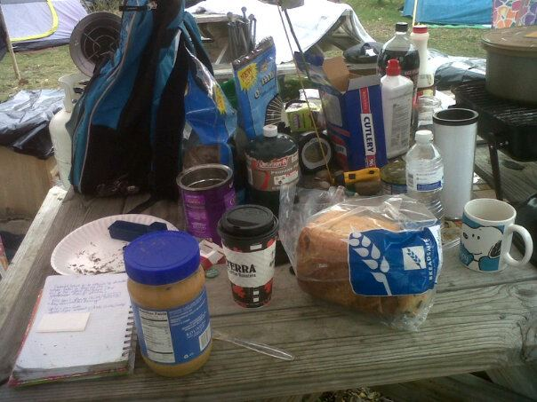 Breakfast at the camp