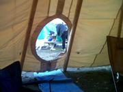 view from inside tipi