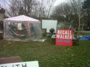 occupy mke camp with temporary shelter Nov 2011