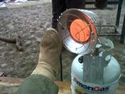 keeping my feet warm!
