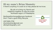 My business for Change in Northeast Philadelphia