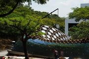 Recyklovaný pavilon knihovny pro studenty v Singapuru