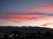 sunset over DEVA housing