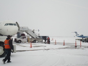 stepping off the plane in Jackson Hole, WY