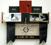 """CUP of TEA, Assemblage, 22"""" x 26"""", 1997"""