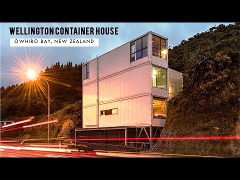 Wellington Container House: Owhiro Bay Cliffside Holiday Home