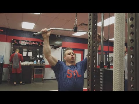 Working out with Cardinals outfielder Tyler O'Neill