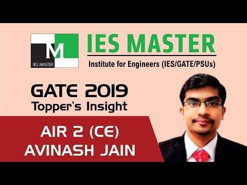 GATE 2019 Topper | Avinash Jain AIR 2 (CE) | IES Master Classroom Student