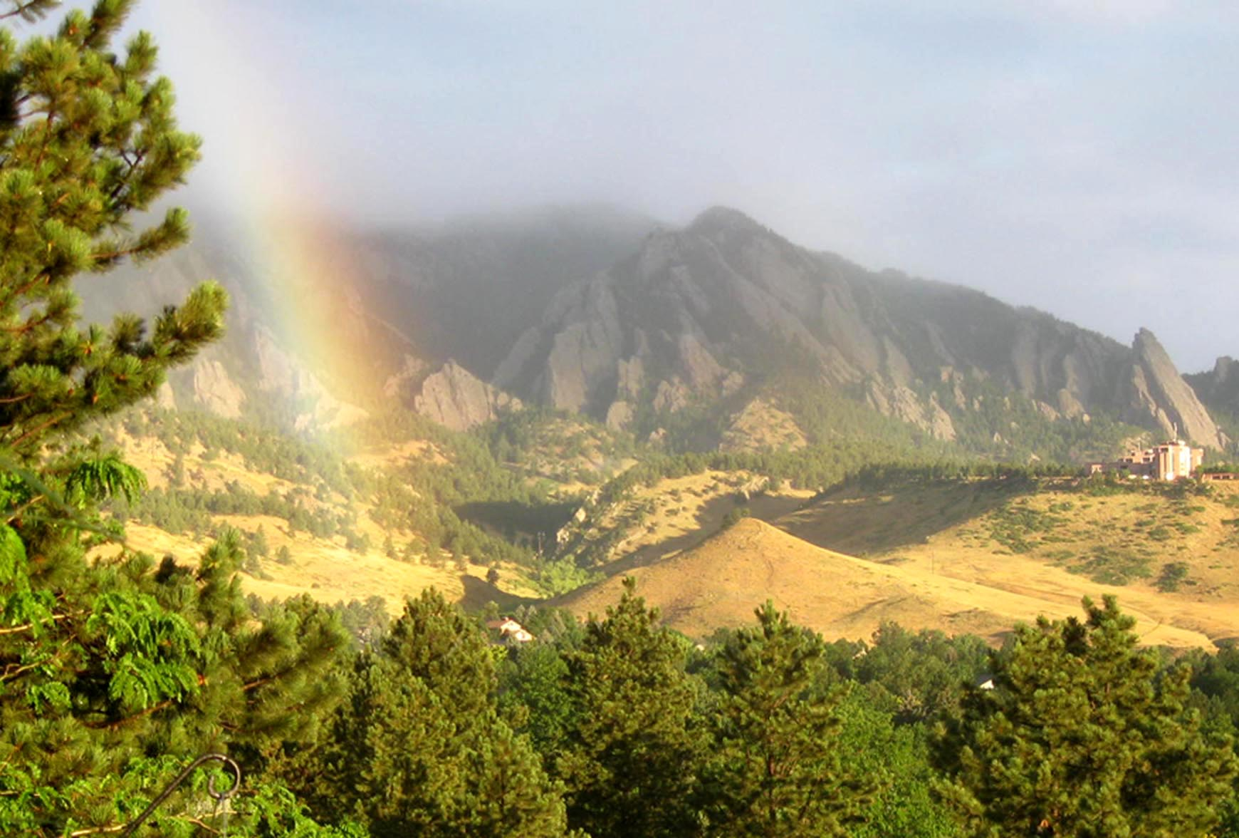 Rainbow looking west 645AM 7_8_12