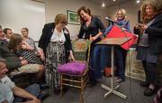 Tamara Vega Haddad presents Lifetime Award to LaVern Johnson, Lyons, Boulder County