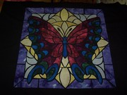 Stained Glass Butterfly Quilt
