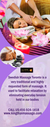 The Swedish Body Massage in Toronto