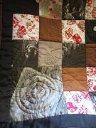 Handmade kimono silk quilt