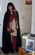 just wearing cape before giving it away