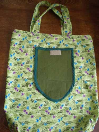Green Floral Fold-Up Shopping Bag