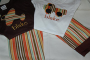 Personalized custom Airpland & Truck applique tshirts and lounge pants