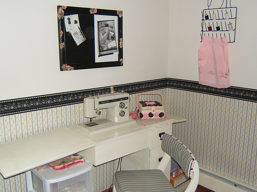 Sewing Cabinet and Chalkboard