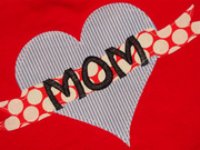 Mother's Day Heart Applique