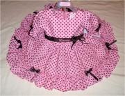 Lauren-pink brown polka dot