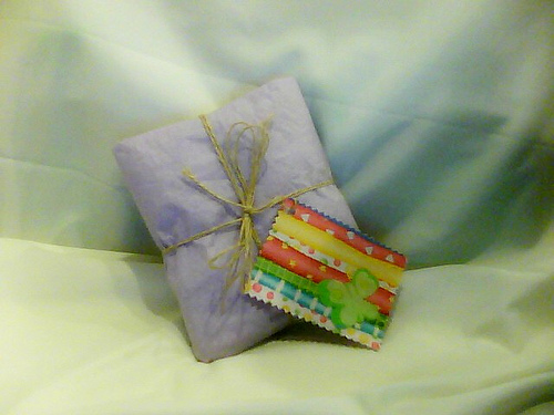 Crayon Wallet Gift Wrapped with Custom Card