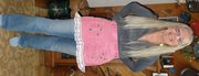 pink pants apron
