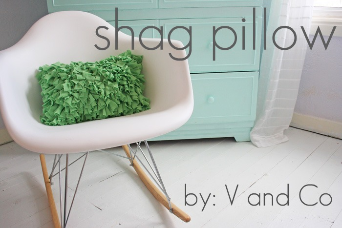 Shag Pillow Tutorial by V & Co.
