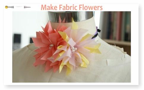 Fabric Flower Accessory Tutorial - by Rachel