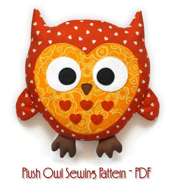 Plush Owl ePattern - PDF