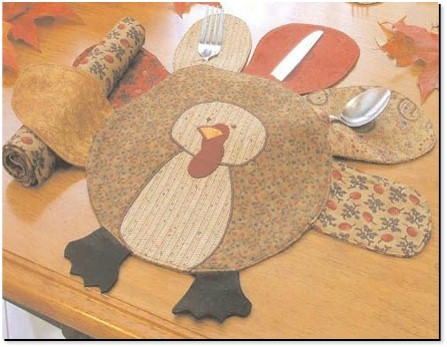 Free Turkey Placemat Pattern