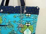 Owl Tote Bag Close-up