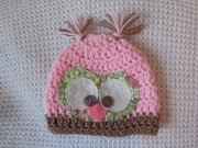 Crochet Owl Face Baby Hat