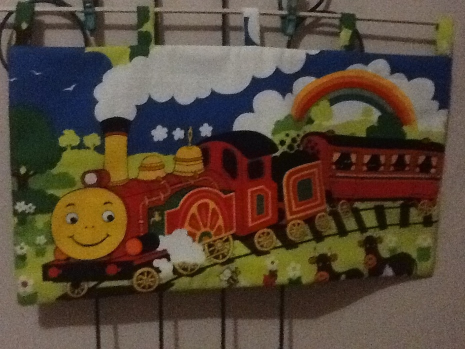 Child's train wall hanging