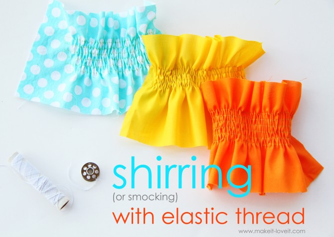 How to Shirr (or) Smock with Elastic Thread
