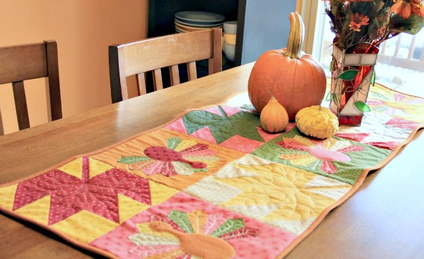 Table Top Turkey Trot - Quilted Runner Tutorial from Moda Bake Shop