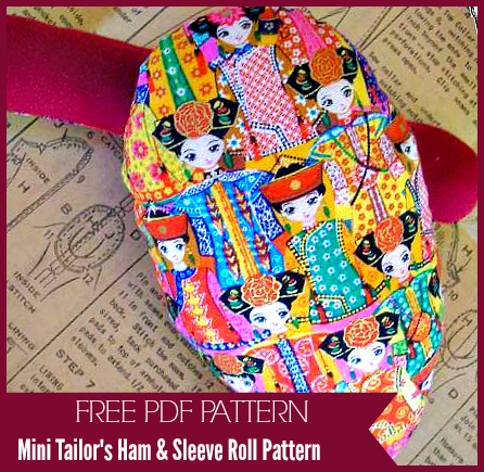 Mini Tailor's Ham and Sleeve Roll - Free PDF Sewing Pattern by Thimbles & Acorns