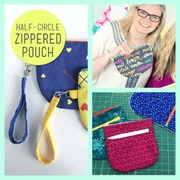3 Free Half-circle Zippered Pouch Sewing Tutorials